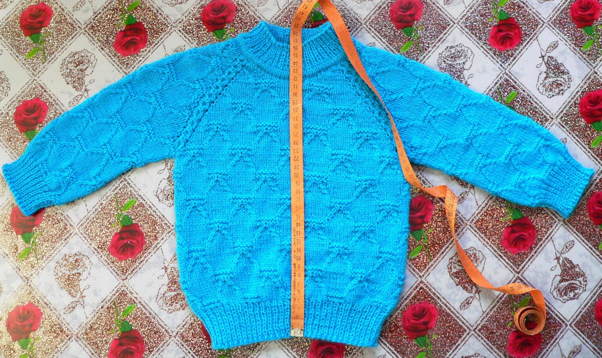 Вязание детской кофты регланом сверху мастер класс