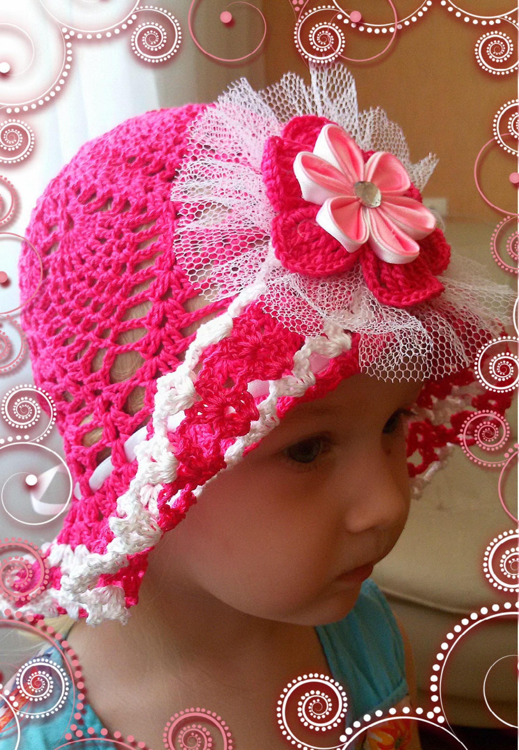Шляпа на девочку своими руками