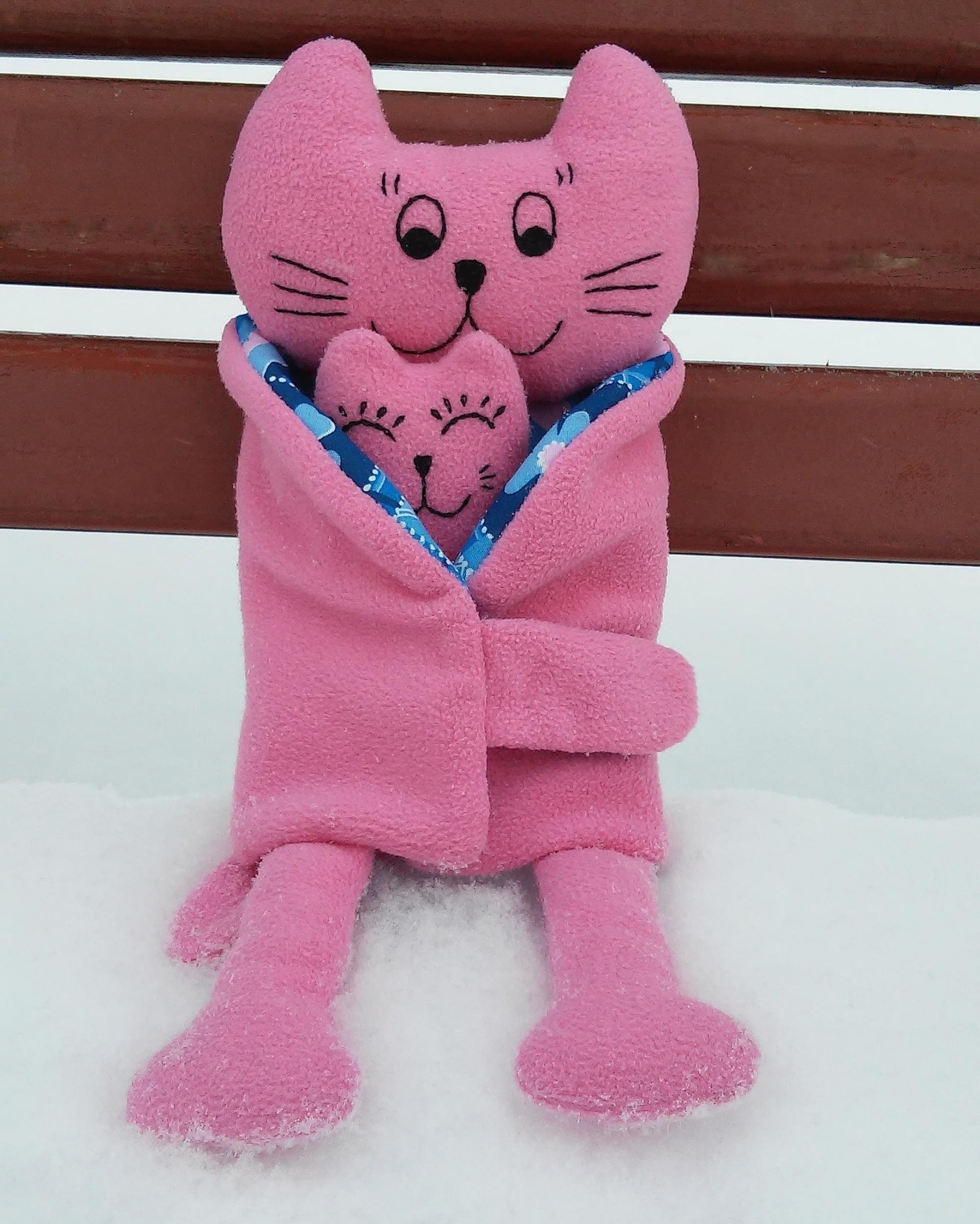 мягкая игрушка кошка с котенком, Евгения Хроменкова