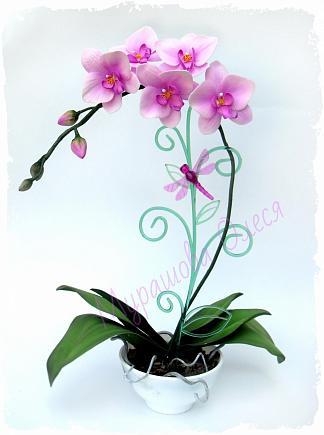 Орхидея фаленопсис из фоамирана, olesa1909